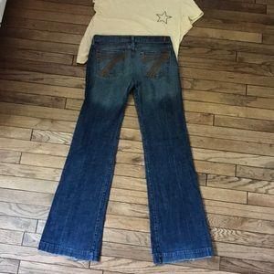 7 For All Mankind Dojo Ombré Wide Leg Flare Jeans